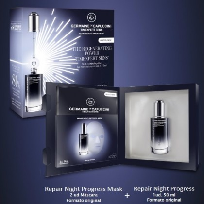 Cofre Serum New Repair Night Progress + 2 Mascarillas SRNS Germaine de Capuccini